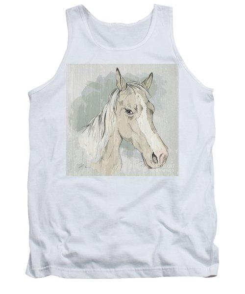 Horse Portrait-farm Animals Tank Top