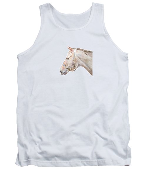 Tank Top featuring the painting Horse Portrait I by Elizabeth Lock