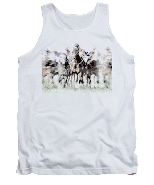 Horse Racing - Parallel Hatching Tank Top