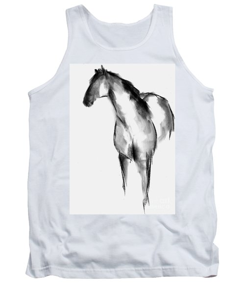 Horse Sketch Tank Top by Frances Marino
