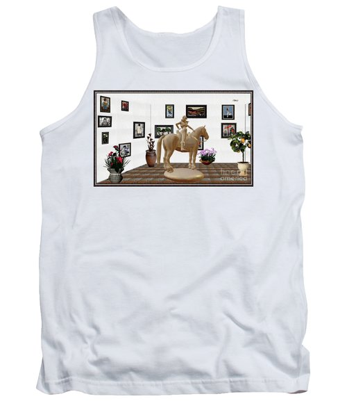 Virtual Exhibition -statue Of Horsewoman 12 Tank Top by Pemaro