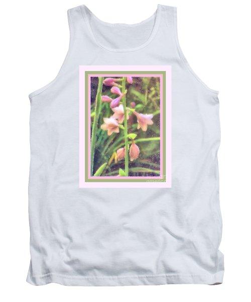 Hosta Bloom Pink Frame Tank Top