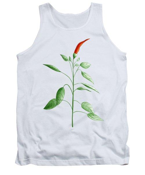 Hot Chili Pepper Plant Botanical Illustration Tank Top