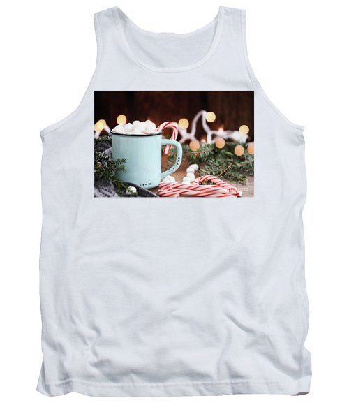 Hot Cocoa With Marshmallows And Candy Canes Tank Top