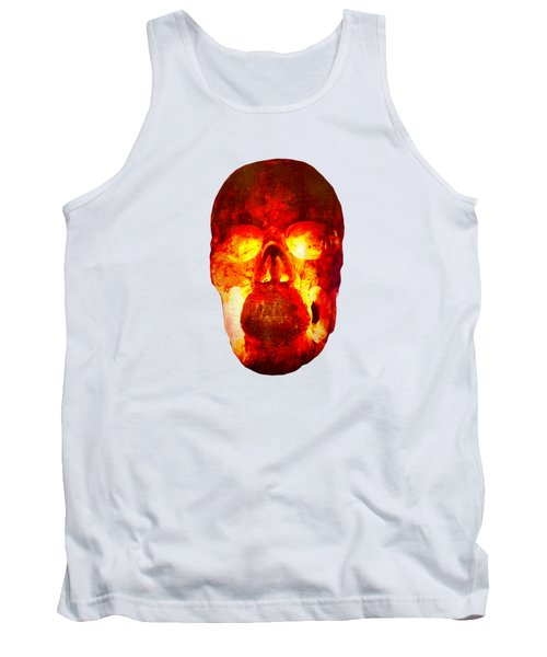 Hot Headed Skull On Transparent Background Tank Top