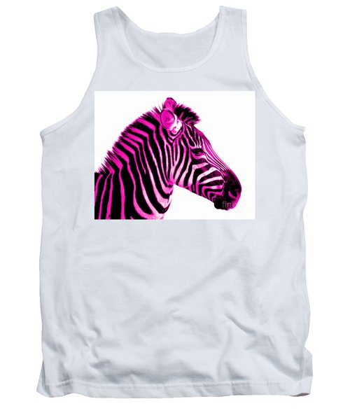 Hot Pink Zebra Tank Top