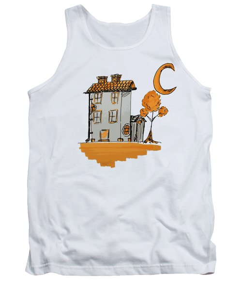 House And Moon Tank Top
