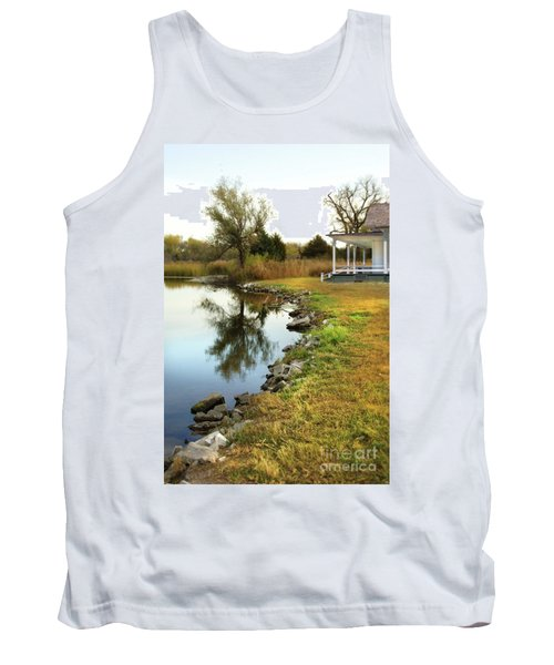 House By The Edge Of The Lake Tank Top by Jill Battaglia