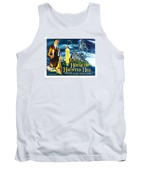 House On Haunted Hill Poster Classic Horror Movie  Tank Top
