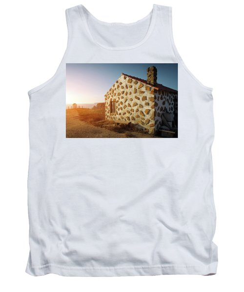 Tank Top featuring the photograph House On The Cliff by Carlos Caetano