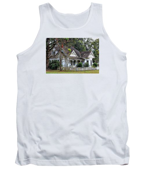 House With A Picket Fence Tank Top by Lynn Jordan