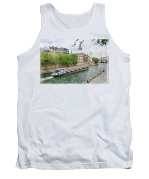 Houseboat Down The Seine Tank Top