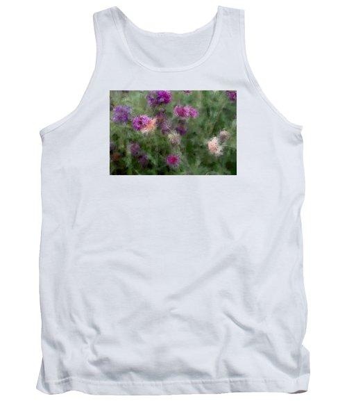 How I Love Flowers Tank Top by The Art Of Marilyn Ridoutt-Greene