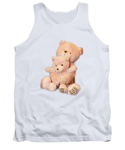 Tank Top featuring the photograph Hugging Bears Cut Out by Linda Phelps