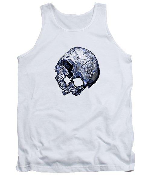 Human Skull Tank Top
