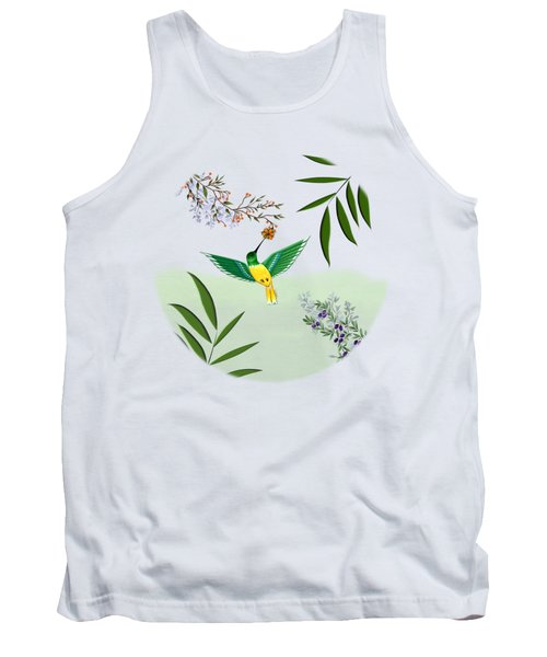 Humming Bird - Circle/clear Background Tank Top
