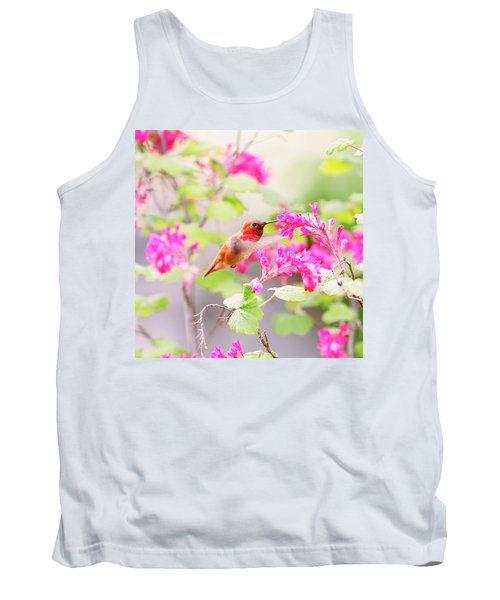 Hummingbird In Spring Tank Top