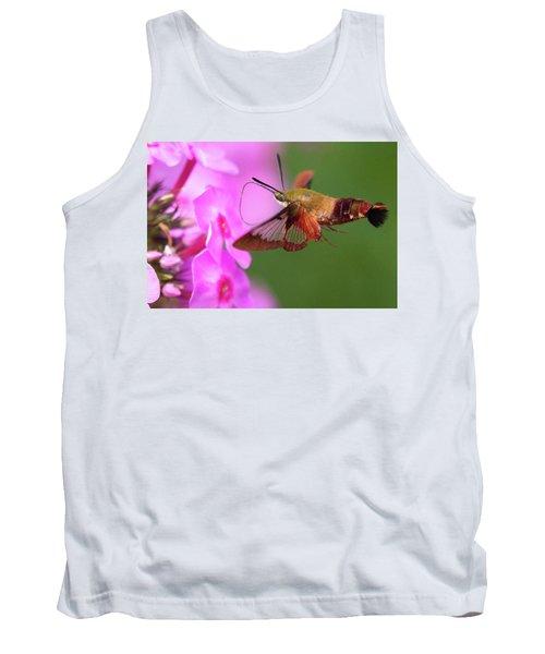 Hummingbird Moth Feeding 2 Tank Top