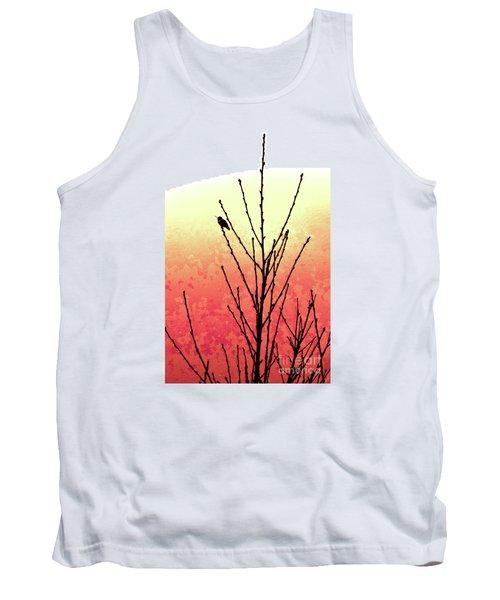 Hummingbird Peach Tree Tank Top by Gem S Visionary