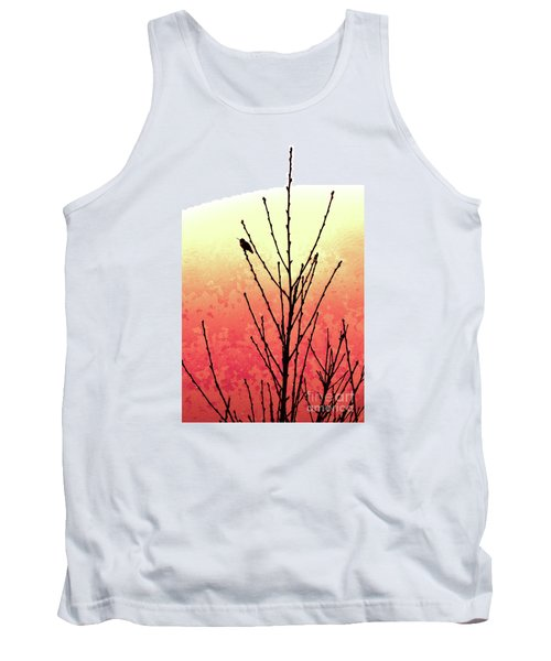 Sunset Peach Tree Tank Top