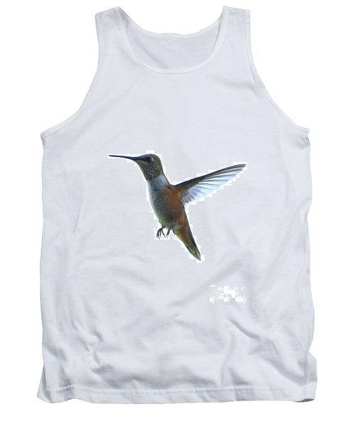 Hummingbird With White Background Tank Top