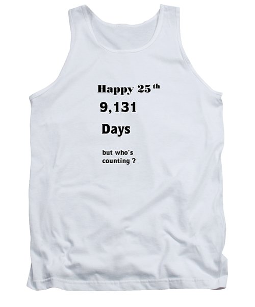 Humorous 25th Tank Top