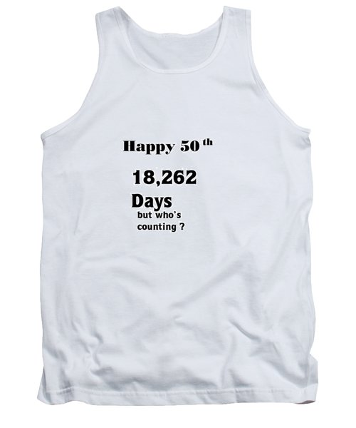 Humorous 50 Th Tank Top