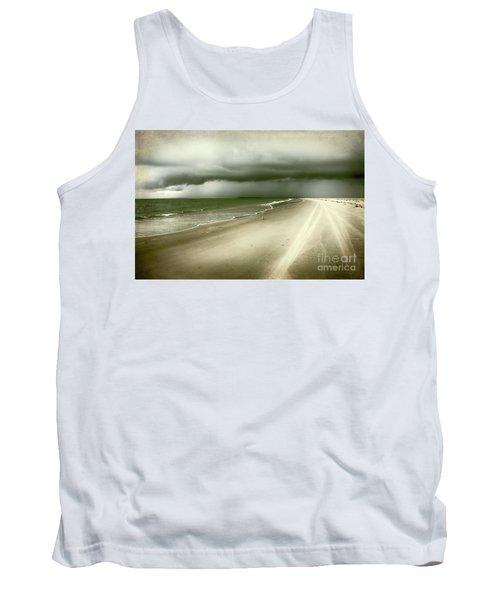 Hurricane Storm Ocracoke Island Outer Banks Tank Top by Dan Carmichael