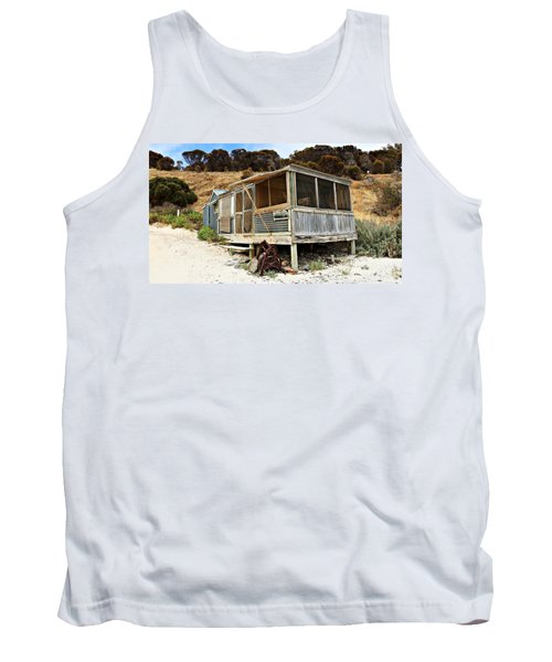 Hut At Western River Cove Tank Top by Stephen Mitchell
