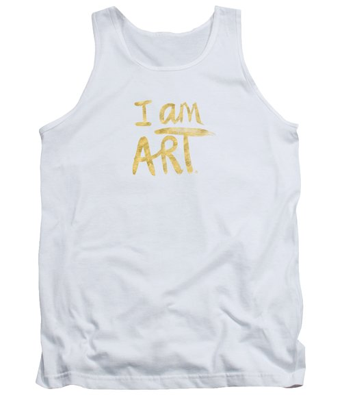 Tank Top featuring the painting I Am Art Gold - Art By Linda Woods by Linda Woods