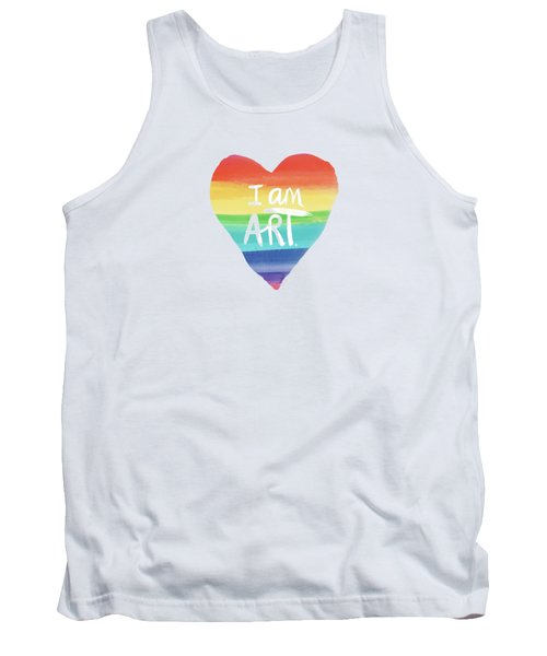 I Am Art Rainbow Heart- Art By Linda Woods Tank Top