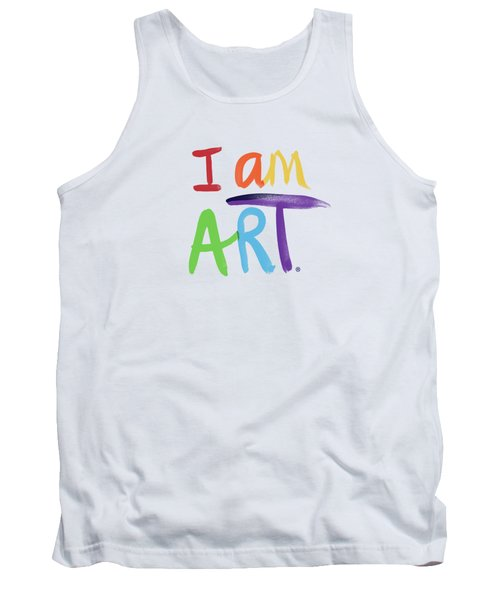 I Am Art Rainbow Script- Art By Linda Woods Tank Top