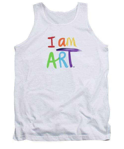 I Am Art Rainbow Script- Art By Linda Woods Tank Top