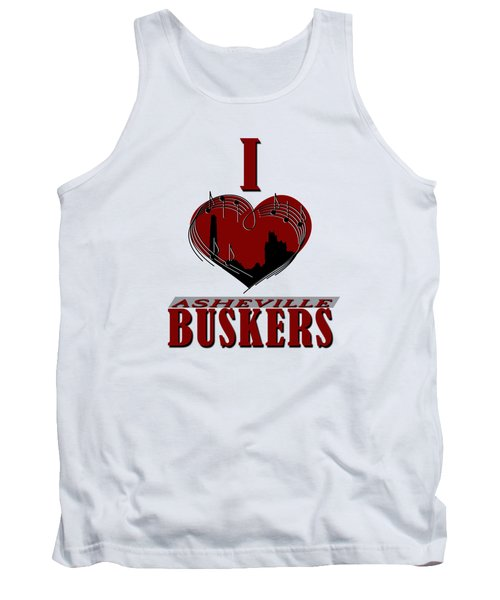 I Heart Asheville Buskers Tank Top