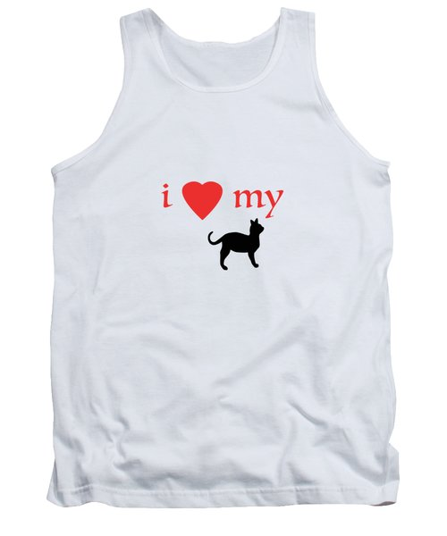 I Heart My Cat Tank Top by Bill Owen