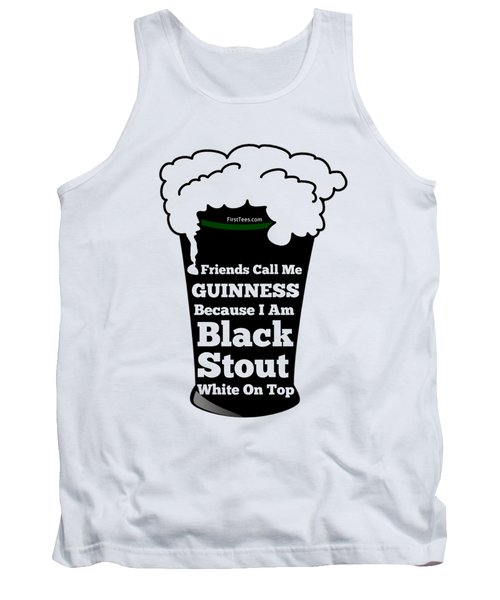 I Love Guinness  Tank Top by FirstTees Motivational Artwork