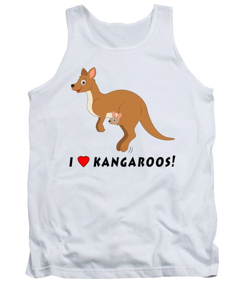 I Love Kangaroos Tank Top by A
