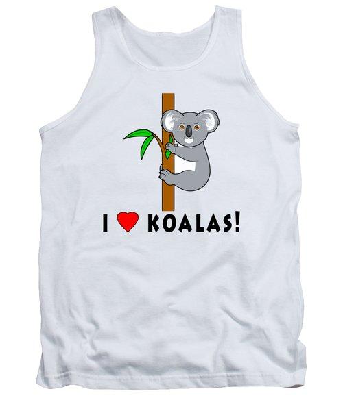 I Love Koalas Tank Top by A