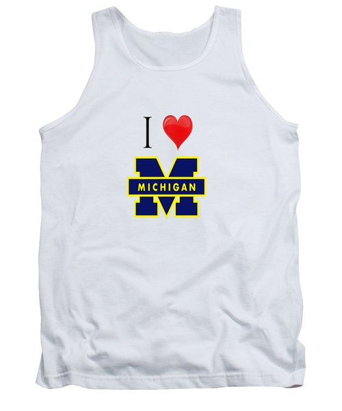 I Love Michigan Tank Top