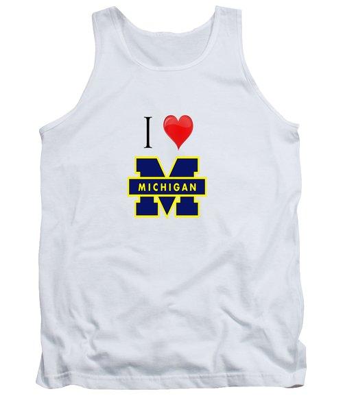 I Love Michigan Tank Top