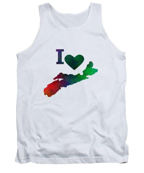 I Love Nova Scotia Tank Top by Kathleen Sartoris
