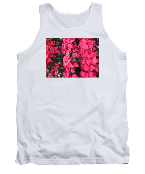Tank Top featuring the photograph I Love Poinsettias by Kay Gilley