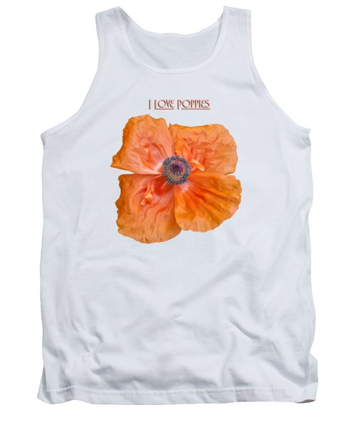 I Love Poppies Tank Top