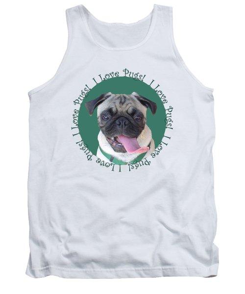 I Love Pugs Tank Top