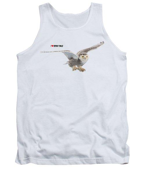 I Love Snowy Owls T-shirt Tank Top