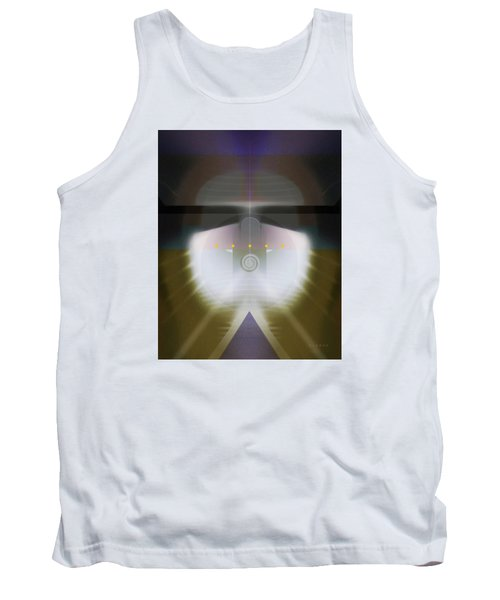 I Wish I Was A Headlight On A Northbound Train Tank Top by David Klaboe