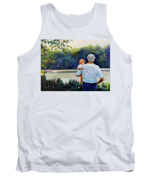 Ian And His Daddy One Sunday Afternoon Tank Top by Marlene Book