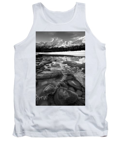 Ice On The Athabasca Tank Top by Dan Jurak