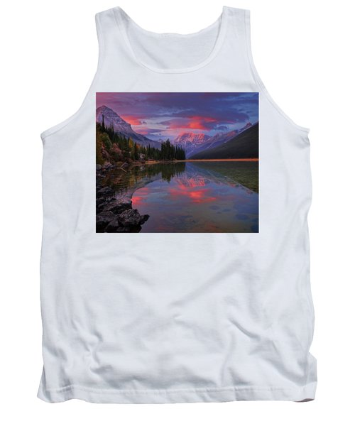 Icefields Parkway Autumn Morning Tank Top