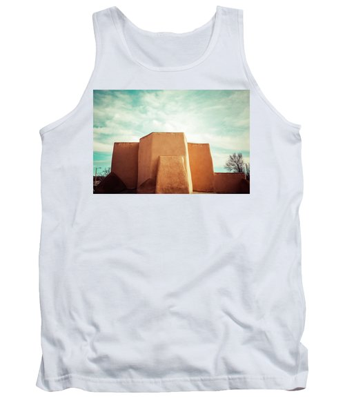 Tank Top featuring the photograph Iconic Church In Taos by Marilyn Hunt